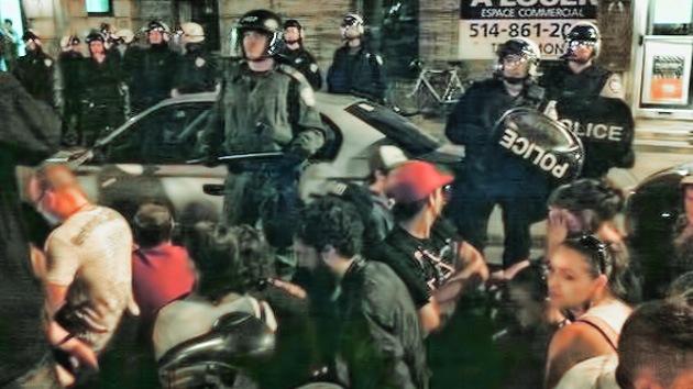 Al menos 700 estudiantes detenidos en Montreal