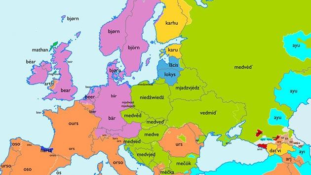 Mapa Europa En Español.Viaje Por Europa A La Ultima Frontera De Las Palabras De