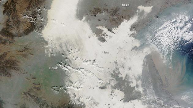 La contaminación en China es tan grave que se ve incluso desde el espacio