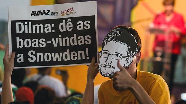 Fotos: Manifestantes en Brasil le piden a Rousseff que otorgue asilo a Snowden
