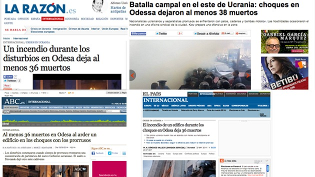 El incendio de Odesa para la prensa en español: una triste tragedia sin responsables