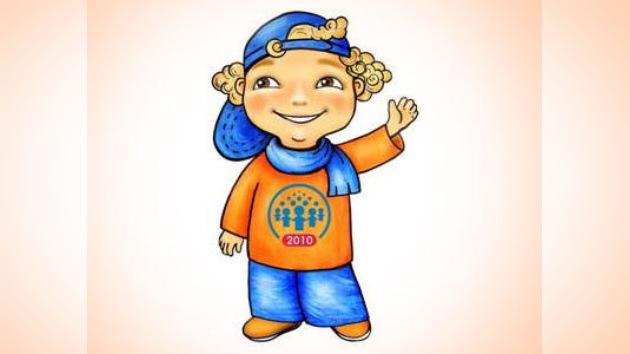 """""""Chico sonriente"""": mascota del censo 2010 en Rusia"""