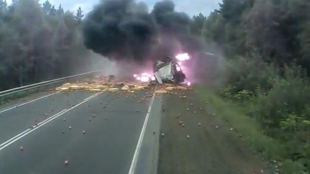 VIDEO: un accidente 'chocante' en Rusia