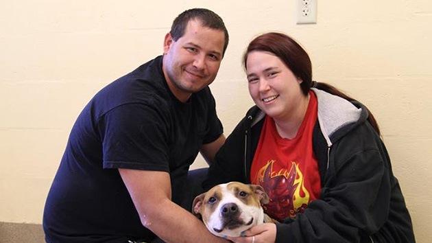 Una familia encuentra a su perro desaparecido durante el huracán Sandy