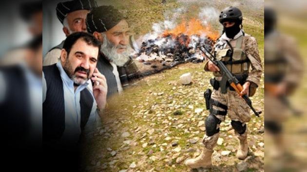 Operaciones antidrogas ruso-estadounidenses irritan al presidente afgano