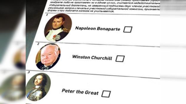 Moscovitas eligen entre Napoleón y Churchill en un simulacro de las presidenciales