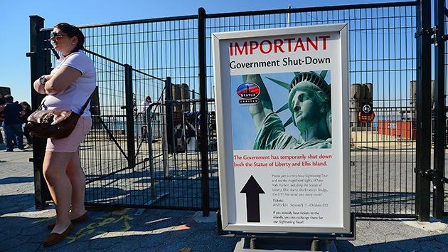 Fotos: La estatua de la Libertad, el Gran Cañón y el monte Rushmore reabren en EE.UU.