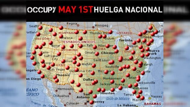 Huelga histórica que 'devorará' EE. UU.: 115 ciudades paralizarán el país el 1 de mayo