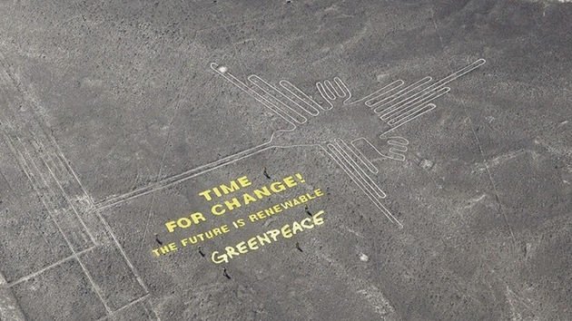 "Greenpeace ""abofetea"" a Perú dañando gravemente las lineas de Nazca. B95341aa4c9ed2e07b5167b07daa6fda_article630bw"