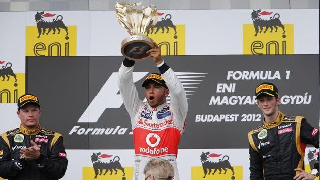 Hamilton gana el GP de Hungría y Alonso se mantiene como líder