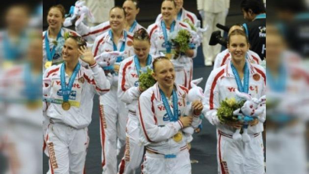 Rusia, campeón mundial de natación sincronizada por equipos