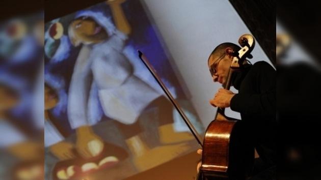 Pinturas en 3D con acompañamiento musical