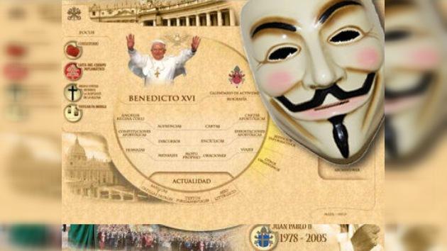 Anonymous califica de 'pecador' al Vaticano y deja su web fuera de juego