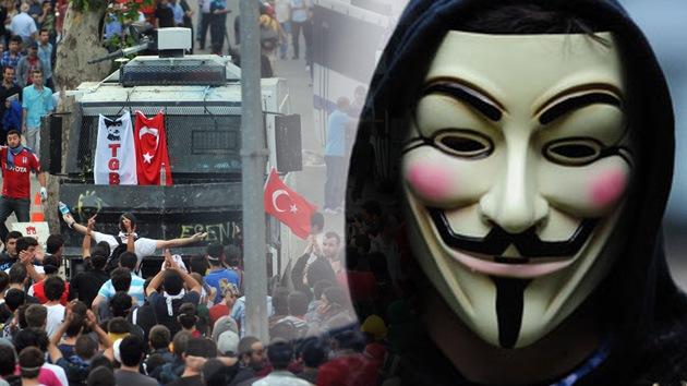 """Anonymous se une a los manifestantes para """"poner al Gobierno turco de rodillas"""""""