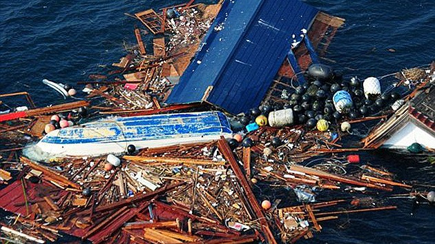 Una 'isla de escombros' del tamaño de Texas procedente de Fukushima se dirige a EE.UU.