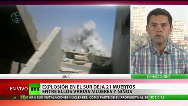 La explosión de un coche bomba causa 21 muertos en el sur de Siria