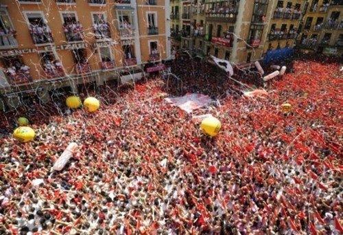En España se celebran los sanfermines