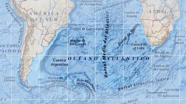 Descubren en el sur del océano Atlántico análogos de los agujeros negros espaciales