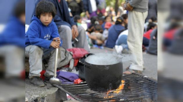 Los líderes latinoamericanos celebran junto a los que menos tienen
