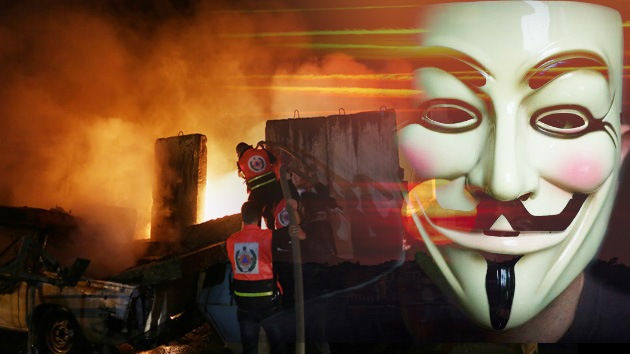 "Video: Anonymous declara la guerra a Israel: ""No escaparéis de nuestra ira"""