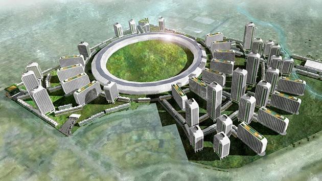 Imágenes: ¿Cómo sería una ciudad diseñada por Apple, Facebook y Google?