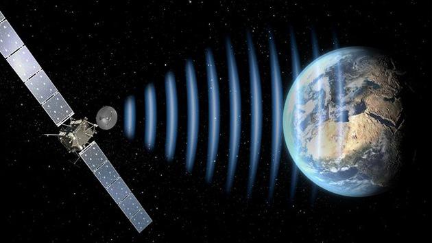 La sonda espacial Rosetta se pone en contacto con la Tierra