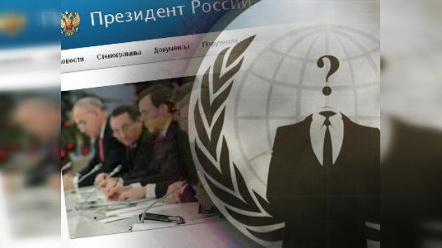 'Anonymous' hackea la página web del Kremlin