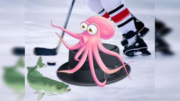 Las sorpresas del hockey: pulpos y sombreros sobre el hielo