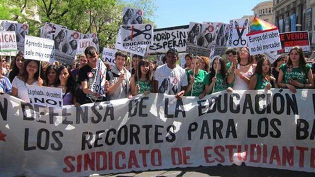 """España inicia una """"semana de lucha"""" por la educación"""