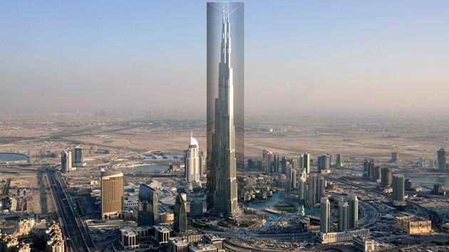 Imágenes: Quieren cubrir el edificio más alto del mundo con una película reflexiva