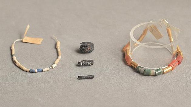 Hace 5.000 años los antiguos egipcios fabricaban collares con restos de meteoritos
