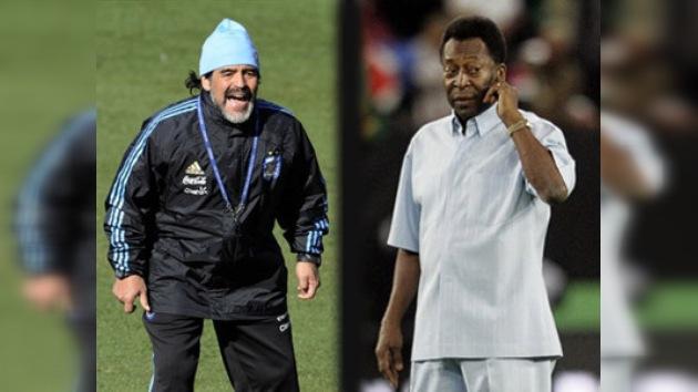 Diego Maradona vs. Pelé, el duelo continúa