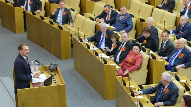 El Parlamento ruso insta a Occidente a ampliar sanciones a todos los diputados