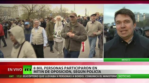 La oposición rusa sale a las calles de Moscú
