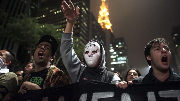 Fotos: Protestas en Brasil desembocan en choques entre manifestantes y policías