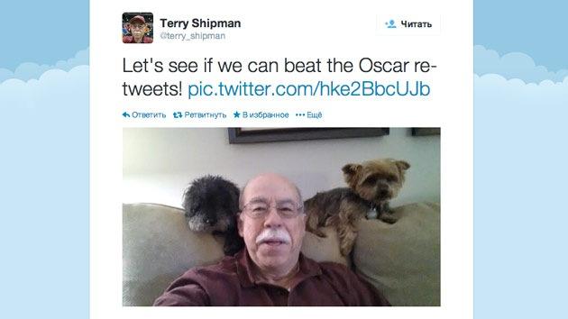 Un 'selfie' con dos perritos pretende superar al de los Oscar
