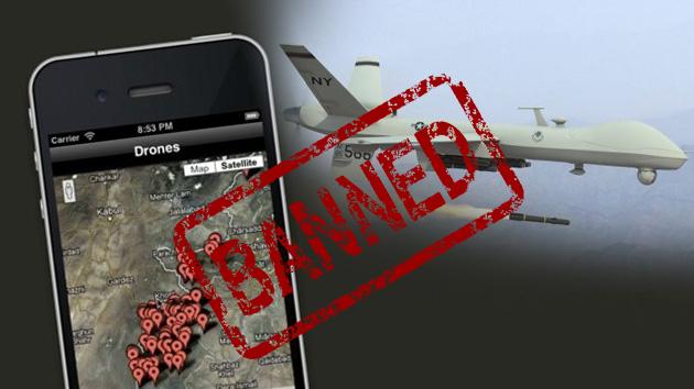Apple rechaza una aplicación que avisa de cada disparo de un drone estadounidense