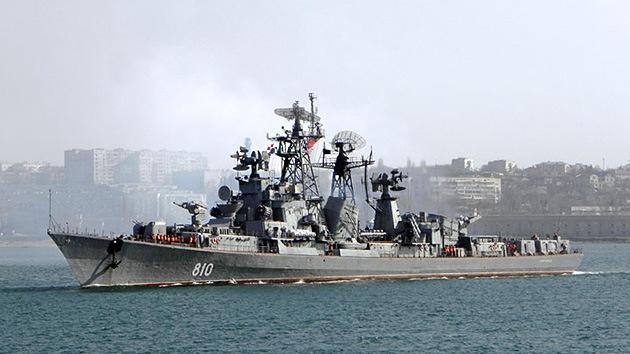 Otro buque de guerra ruso zarpa hacia el Mediterráneo