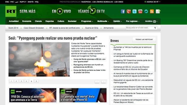 Problemas de acceso a algunos artículos de RT en español