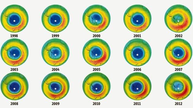 El agujero de la capa de ozono disminuye