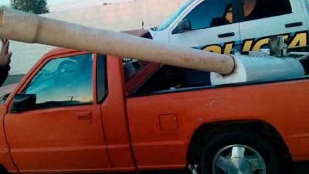 La Policía mexicana incauta un cañón que disparaba marihuana hacia California