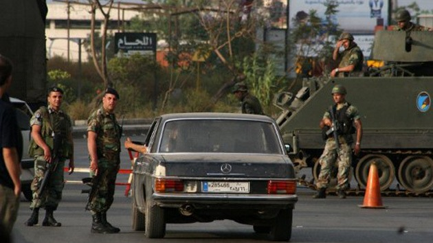 El Ejército toma las calles del Líbano