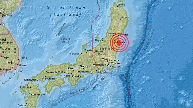 Se registra un sismo de magnitud 4,9 cerca de Fukushima, Japón