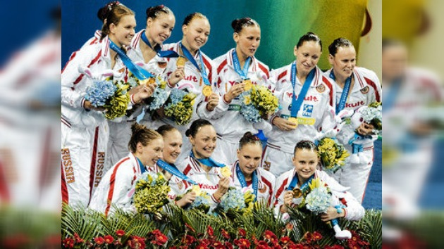 Rusia impone un nuevo récord en Campeonatos del Mundo con 7 medallas en nado sincronizado