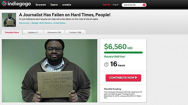 Un periodista consigue 6.000 dólares por financiación en masa para pagar la renta