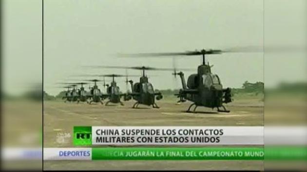 China suspende contactos militares con Estados Unidos