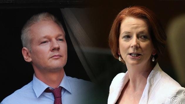 Julian Assange quiere demandar a la primera ministra australiana por difamación