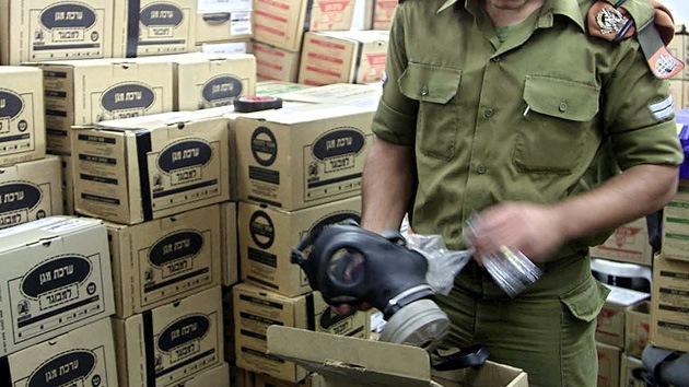 Palestinos exigen a Israel máscaras de gas por temor a la guerra en Siria