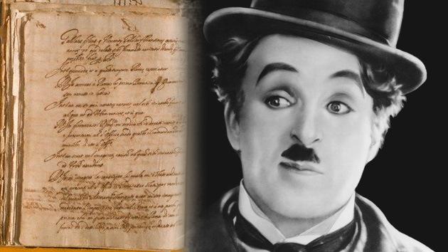 Hallan un guion inédito escrito por Charlie Chaplin