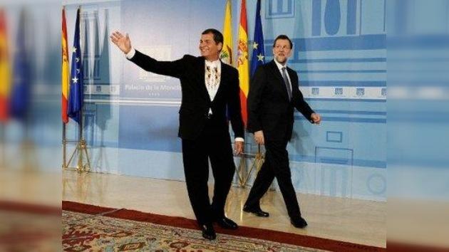 """Correa desde España: Ecuador tiene """"los brazos abiertos"""" para quienes quieran regresar"""